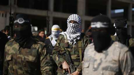 مسلحون من حركة فتح الفلسطينية