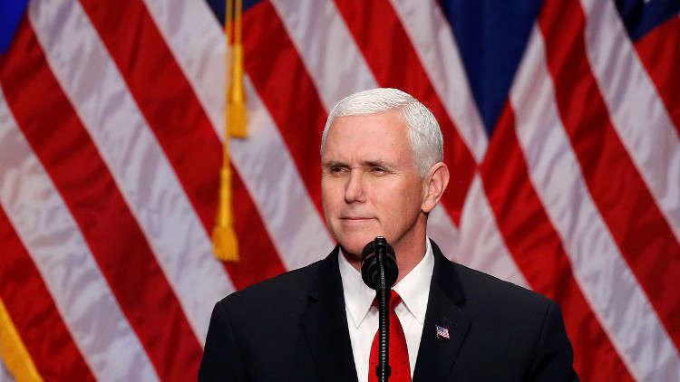 واشنطن: أنباء إلغاء زيارة بنس هذا الشهر للشرق الأوسط غير دقيقة