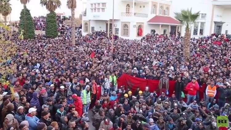 استمرار الاحتجاجات في جرادة المغربية ضد