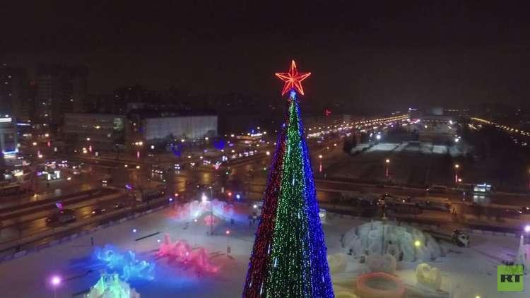 افتتاح حديقة جليدية في بيرم الروسية خاصة بمونديال 2018