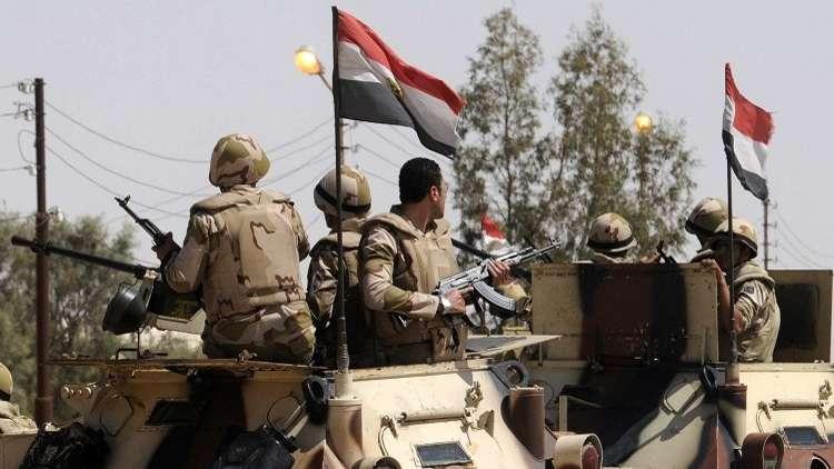 الجيش المصري: مقتل إرهابيين وضبط آخرين  بوسط سيناء