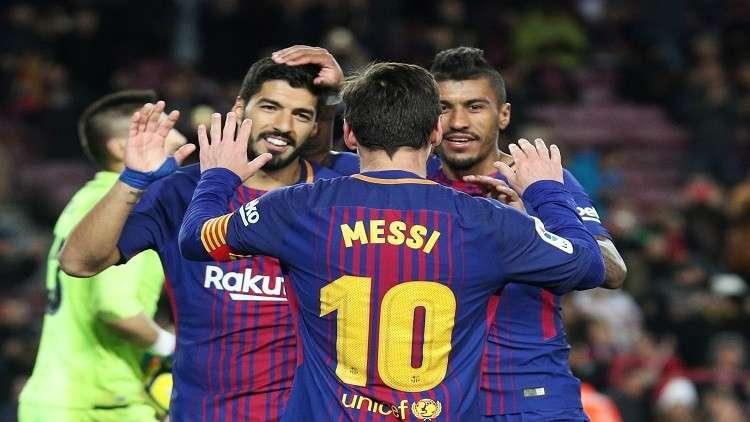 الساحر يقود برشلونة للفوز على ليفانتي بثلاثية نظيفة