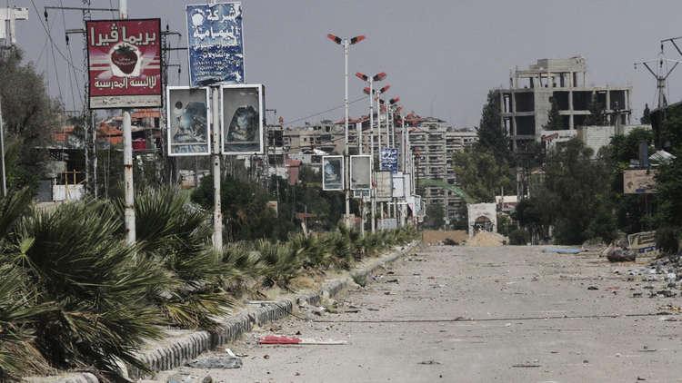 الجيش السوري يفك الطوق عن إدارة المركبات العسكرية في حرستا