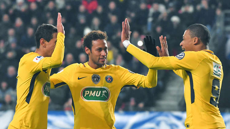 باريس سان جيرمان يستعرض قواه أمام رين في كأس فرنسا