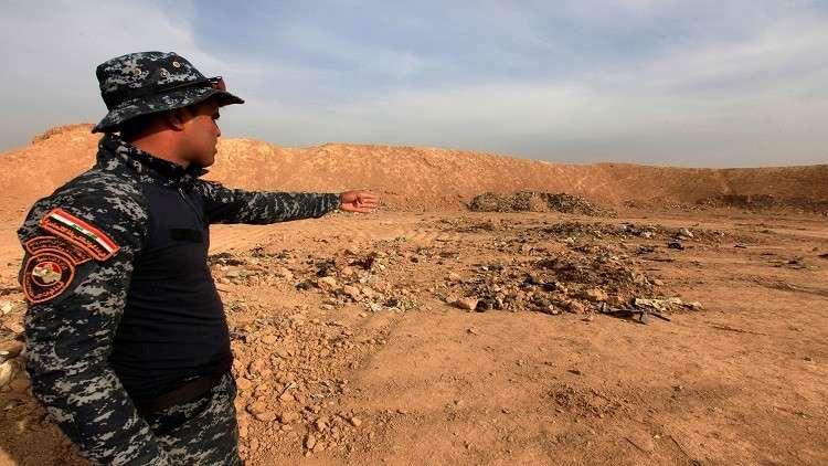 مقبرة جماعية لنساء عذبهن داعش غرب الموصل