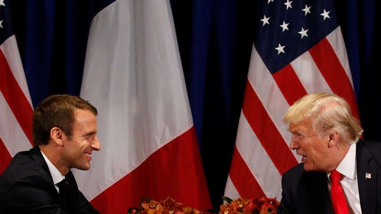 ماكرون يذكّر ترامب بأهمية الالتزام بالاتفاق النووي