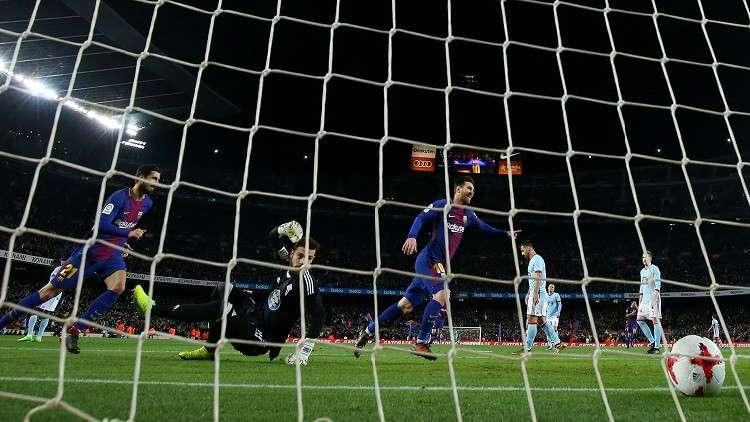 بالفيديو.. برشلونة يجهز على فيغو في كأس إسبانيا