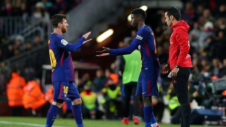 جماهير برشلونة تضع يدها على قلبها خوفا على نجمها