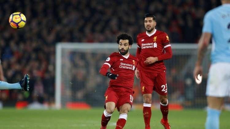 ليفربول يلحق الهزيمة الأولى بمانشستر سيتي بهدف صلاح العالمي ..فيديو