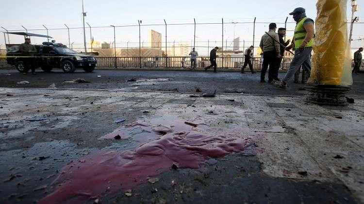 شاهد لحظة تفجير الإرهابي لنفسه في ساحة الطيران ببغداد