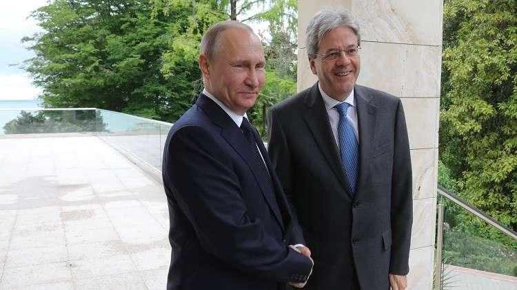 بوتين يبحث تسوية الوضع في ليبيا وأوكرانيا مع رئيس الوزراء الإيطالي