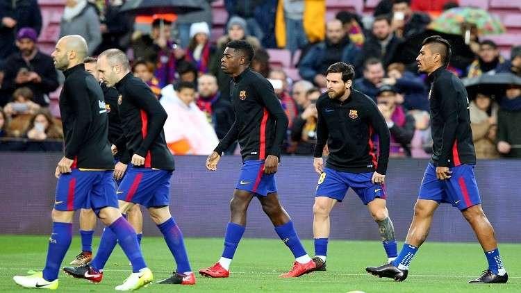 برشلونة يعلن فترة ابتعاد ديمبلي عن الملاعب