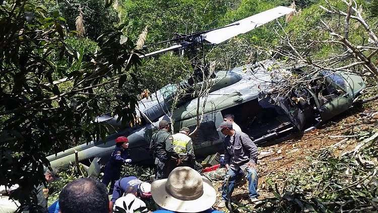 مصرع 7 أشخاص في تحطم مروحية عسكرية في كولومبيا