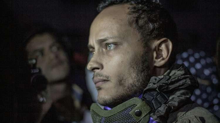 ضابط الشرطة الفنزويلي المنشق بوجه مخضب بالدماء قبل ساعات من مقتله!