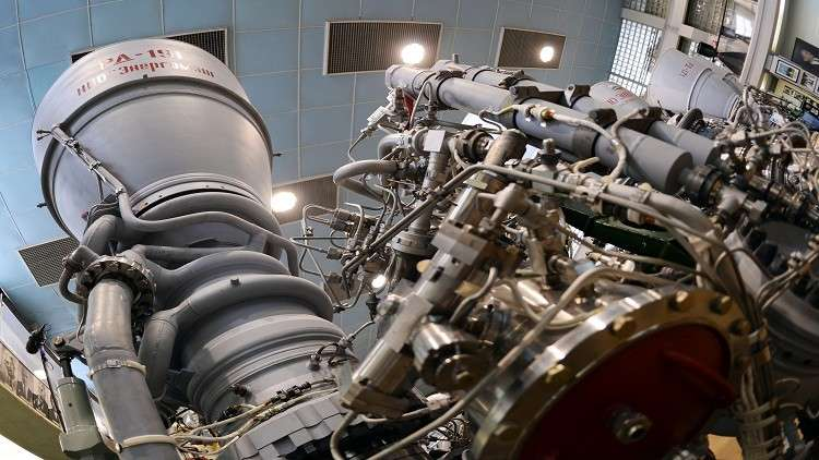 صورة ارشيفية لمحرك صاروخي روسي