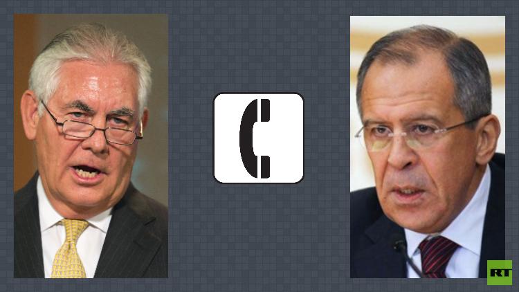 لافروف يناقش مع تيلرسون الوضع في سوريا