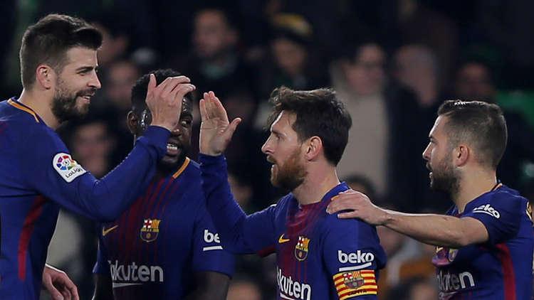 برشلونة يبتعد في صدارة