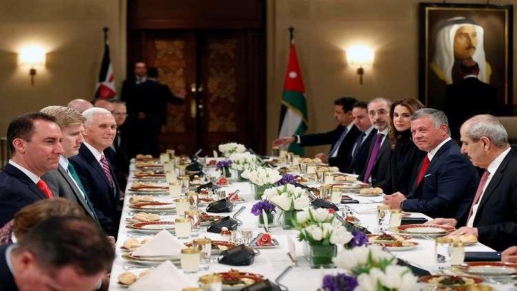 الحوار الكامل بين العاهل الأردني ونائب الرئيس الأمريكي