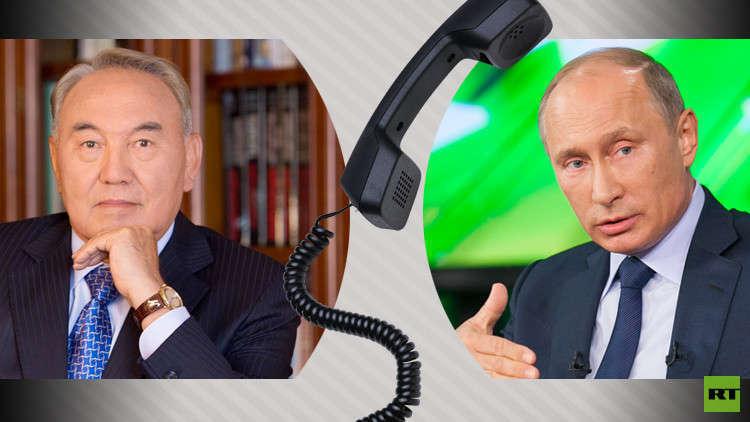 نزاربايف يطلع بوتين على تفاصيل لقائه مع ترامب