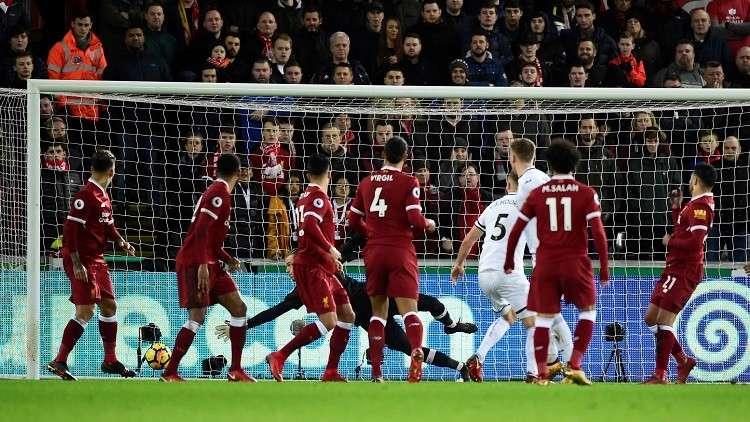 شاهد .. ليفربول يسقط أمام متذيل البريمير ليغ