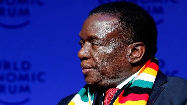 رئيس زمبابوي الحالي إمرسون منانغاغوا
