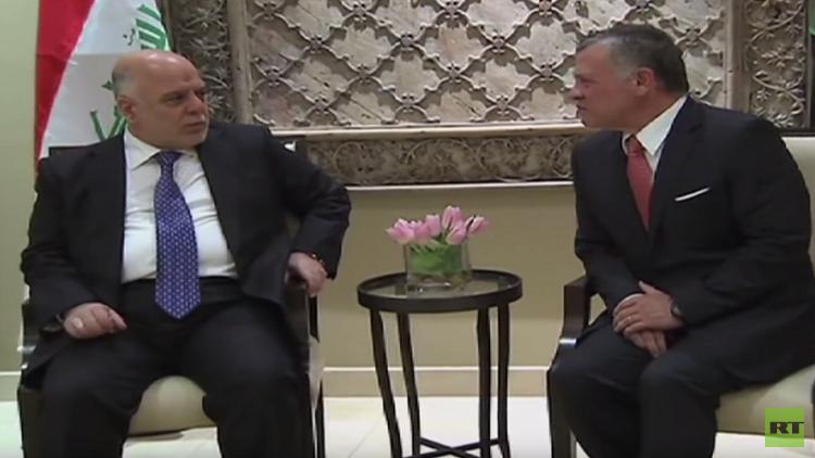 العاهل الأردني يؤكد للعبادي دعم العراق في محاربة الإرهاب