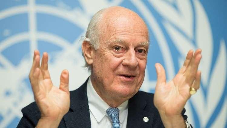 وكالة: دي ميستورا يقرر المشاركة في مؤتمر سوتشي