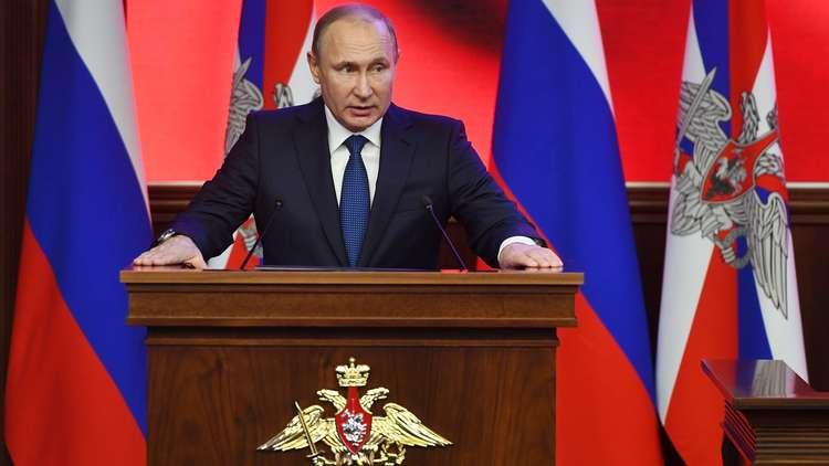 بوتين:  دحر الإرهابيين في سوريا أكد قوة الجيش الروسي