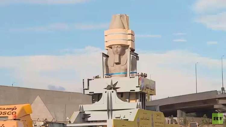 نقل تمثال رمسيس إلى بهو المتحف المصري