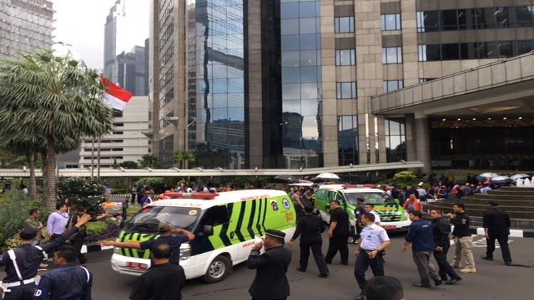 انهيار الطابق الثاني في بورصة إندونيسيا وإصابة نحو عشرة