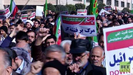 """مظاهرات تؤيد طهران وحديث عن """"نهاية فتنة"""""""
