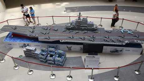مجسم لحاملة طائرات صينية