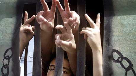 أطفال فلسطينيون معتقلون - أرشيف