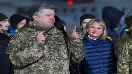 الرئيس الأوكراني، بترو بوروشينكو
