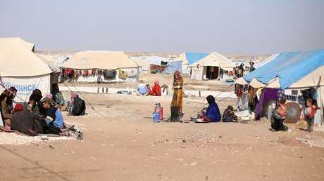 مخيم للاجئين السوريين شمال الحسكة - أرشيف