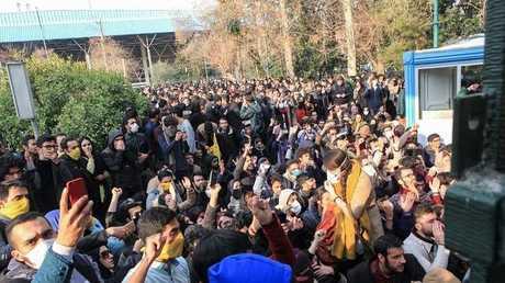 من الاحتجاجات في إيران (صورة أرشيفية)