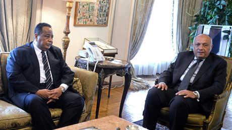 لقاء بين وزيري الخارجية المصري سامح شكري والسوداني إبراهيم غندور - 03/06/2017