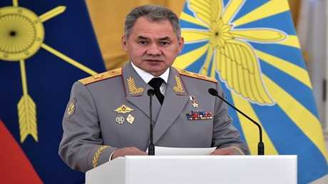 صورة من الأرشيف لوزير الدفاع الروسي سيرغي شويغو