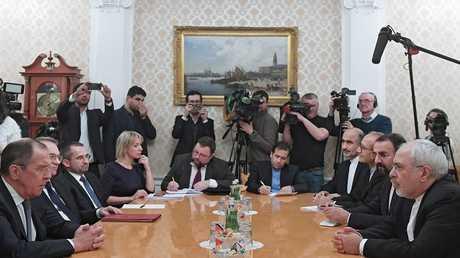 لقاء وزيري الخارجية الروسي والإيراني في موسكو