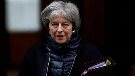 رئيسة الوزراء البريطانية تيريزا ماي، لندن