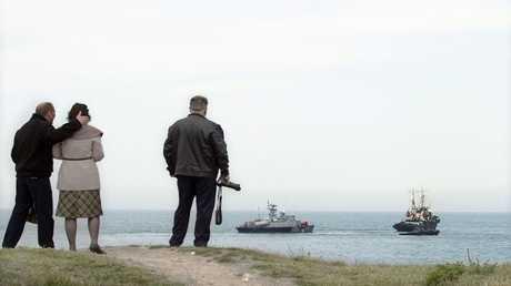 سفينتان أوكرانيتان تغادران سيفاستوبول. عام 2014