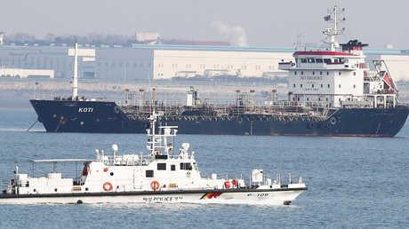 سفينة من باناما تحمل مواد نفطية تشتبه بانتهاك العقوبات ضد كوريا الشمالية وتبحر في مياه تابعة لميناء في كوريا الجنوبية