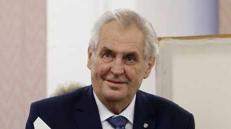 الرئيس التشيكي ميلوش زيمان