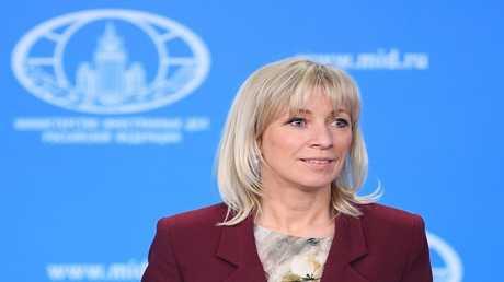 المتحدثة باسم وزارة الخارجية الروسية ماريا زاخاروفا خلال مؤتمر صحفى فى موسكو