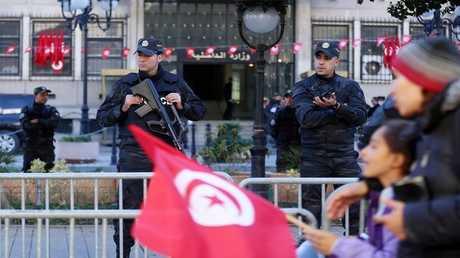 عناصر من الشرطة التونسية في مهمة