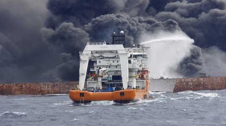ناقلة النفط الإيرانية المنكوبة