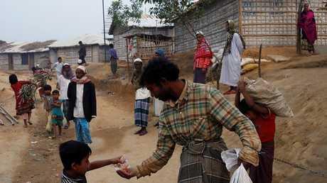 مخيم للروهينغا في بنغلاديش