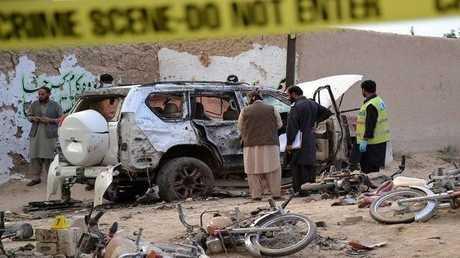 صورة أرشيفية لتفجير سيارة في باكستان