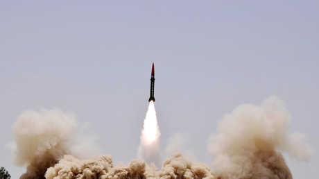 تدريبات صاروخية باكستانية - صورة أرشيفية
