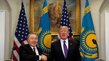 الرئيسي الأمريكي دونالد ترامب والكازاخستاني نور سلطان نزارباييف
